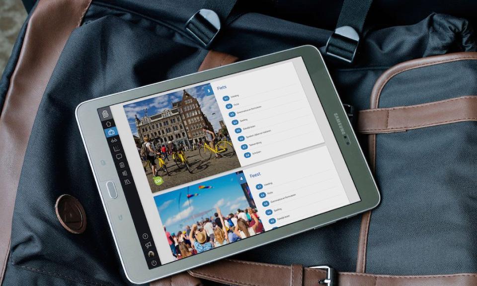 tablet-met-digitaal-lesmateriaal-Leswijs-Nederlands-in-Learnbeat