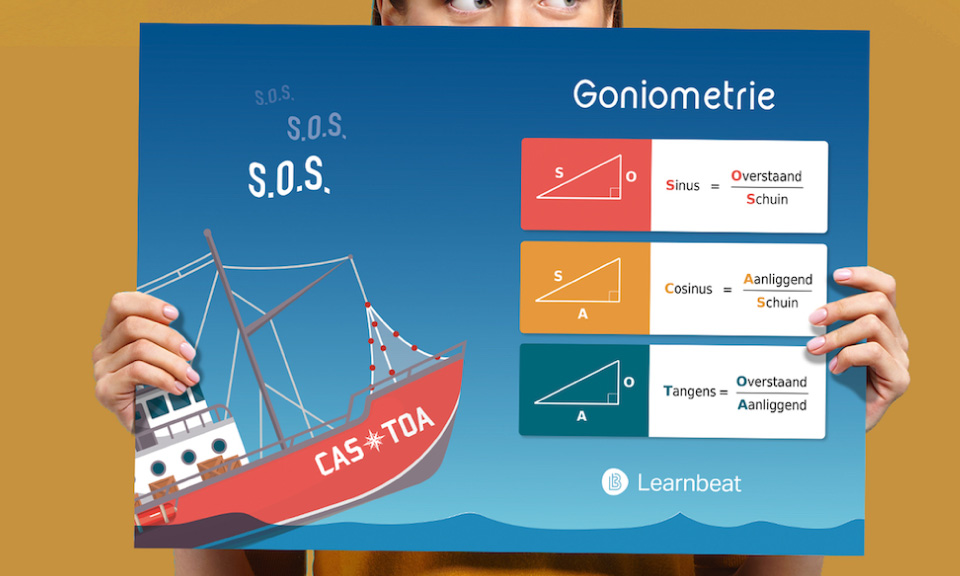 educatieve-poster-wiskunde-goniometrie-sos-cas-toa