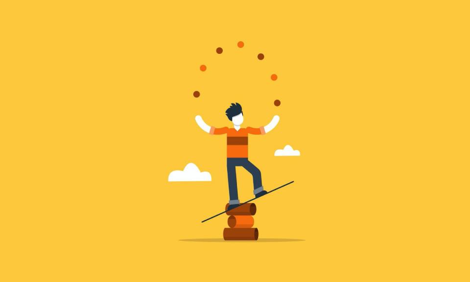 Door hoge werkdruk in het onderwijs moeten docenten soms acrobatische toeren uithalen.