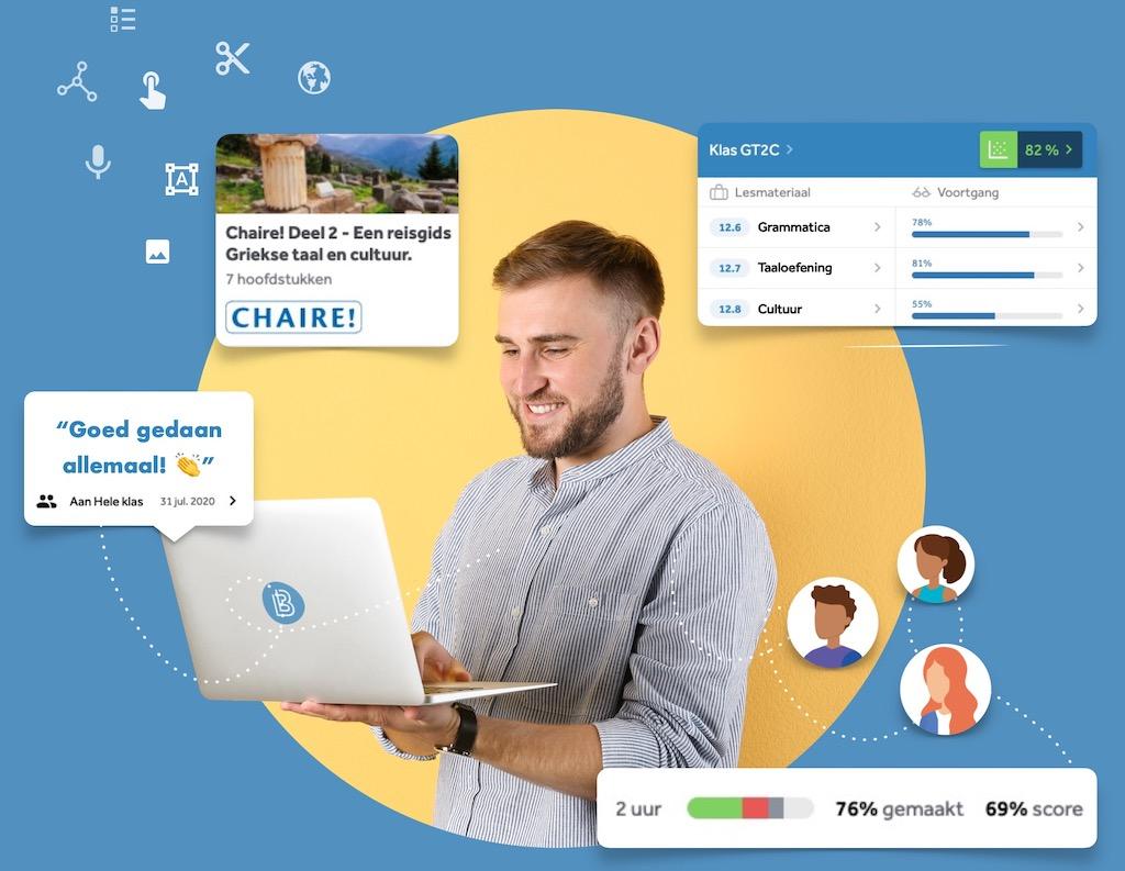 VO leraar Frans houdt voortgang van leerlingen bij in Learnbeat