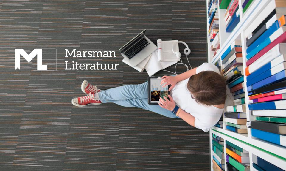 De auteur vertelt over de nieuwe methode Marsman Literatuur.
