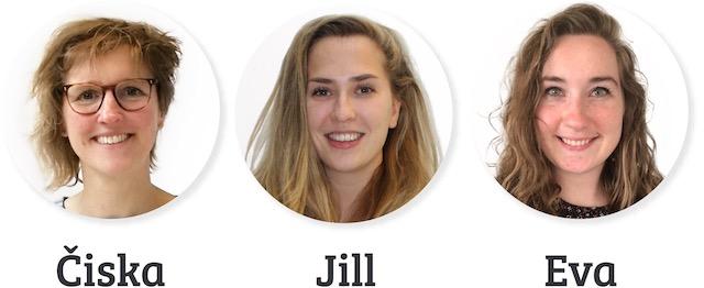 Čiska, Jill en Eva