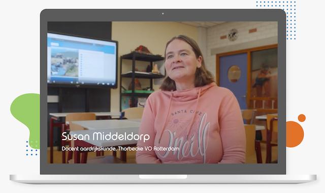 Susan Middeldorp Thorbecke VO Rotterdam over lesmateriaal arrangeren in Learnbeat