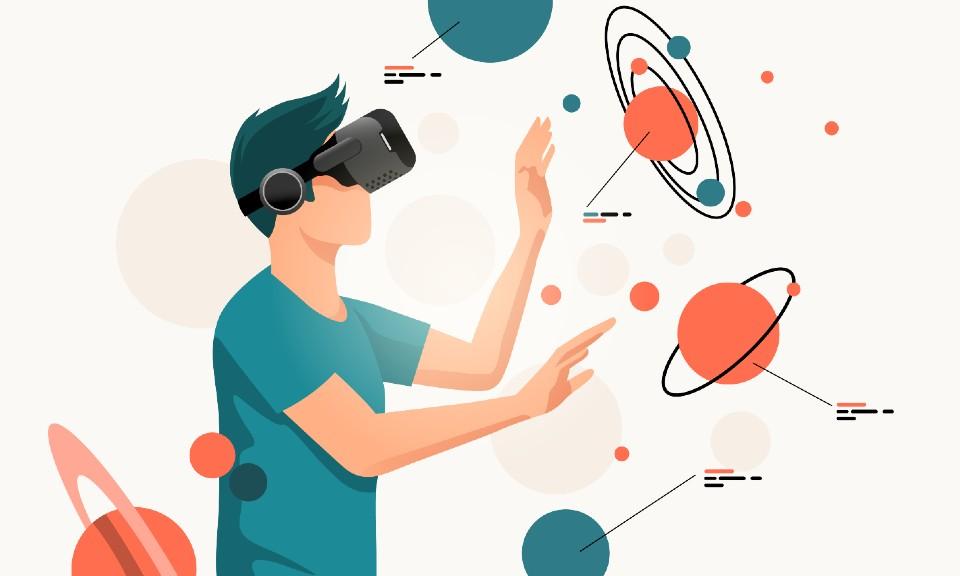 Bij immersive learning worden virtuele elementen gebruikt.
