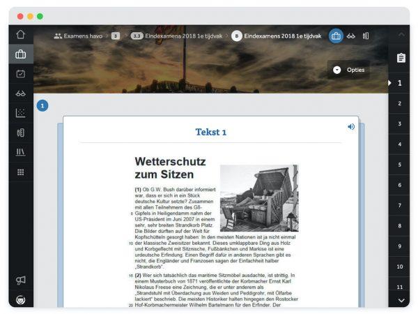 Bron met Duitse tekst 1, ondersteund door een afbeelding. Je ziet een voorleesfunctie rechtsboven.