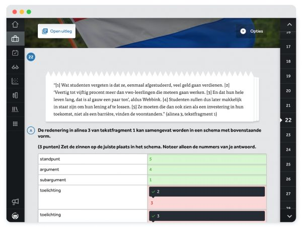 opgave-in-Examentrainer-Nederlands-in-Learnbeat-zet-de-redenering-uit-de-tekst-in-een-schema