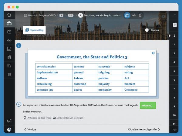 Opgave-7.3-A-practising-vocabulary-in-context-Government-the-State-and-Politics-3-kies-het-juiste-woord-uit-de-woordenlijst-en-vul-in-in-de-zin-automatische-nakijkfunctie-staat-aan-groen-vakje-geeft-aan-dat-gegeven-antwoord-correct-is