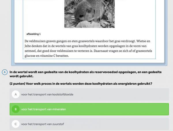 opgave-uit-examentrainer-biologie-meerkeuzevraag-egel-in-learnbeat