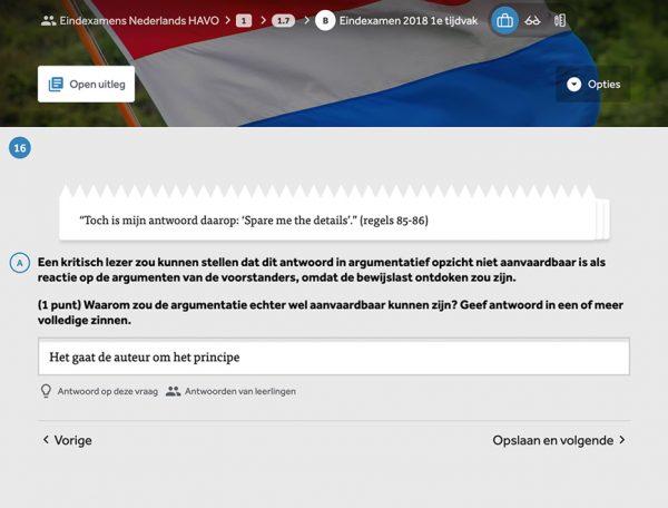 opgave-open-vraag-uit-module-examentrainer-nederlands-in-learnbeat