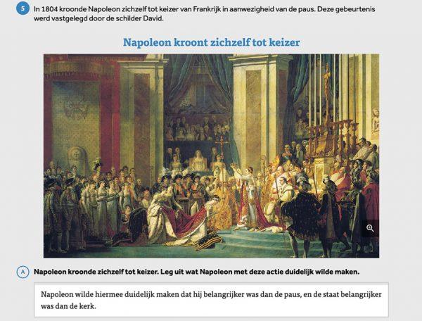 opgave-uit-leswijs-geschiedenis-waarin-napoleon-zichzelf-kroont-tot-keizer