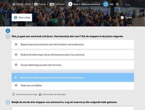 opgave-werkstuk-maken-stappenplan-uit-lesmethode-Nederlands-Leswijs-in-Learnbeat